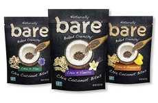 Crunchy Coconut Chia Snacks - The bare Organic Chia Coconut Bites are Made with Superfoods