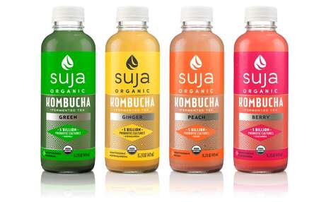 Flavorful Non-Alcoholic Kombuchas - The Suja Organic Kombucha Line is Tasty and Nutritious