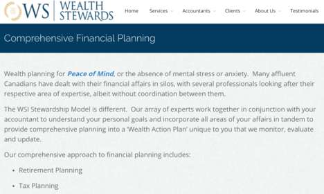 Affluent Canadian-Focused Financial Services - Wealth Stewards Provides a Comprehensive Approach