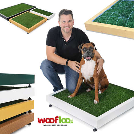 Smart Dog Toilets - 'Woofloo' is a Chic, Self-Cleaning Dog Toilet with Built-In Flush