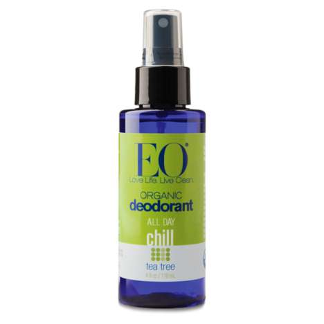 Essential Oil Deodorant Sprays - EO Products Makes Spray-On Deodorants Powered by Natural Essences