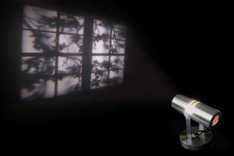 Illusionary Window-Projecting Lamps - The 'Reveal' Lamp by Adam Frank Creates a Faux Window