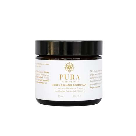 Handcrafted Deodorizing Creams - Pura Botanicals' Cream Deodorant Features Honey & Antiseptic Ginger