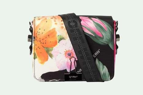 Floral Binder Clip Bags