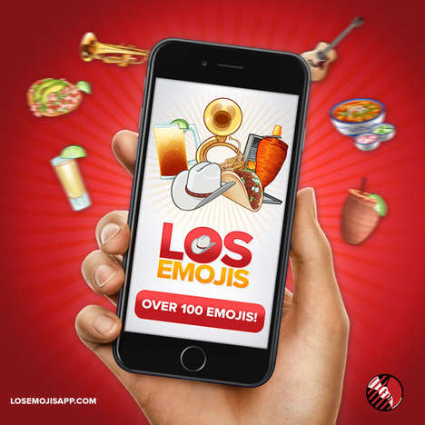 Hispanic Emoji Apps - The Los Emoji App Offers 100 Different Mobile Phone-Friendly Icons