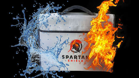Valuable-Protecting Disaster Bags - The Spartan Shield Bag Protects Valuables from Fire and Flooding