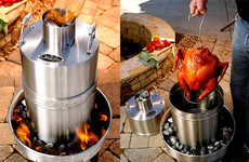 Outdoor Convection Cooker BBQs - The Orion Cooker Prepares Your Choice of Meat in a Worry-Free Way