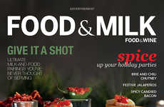 Dairy-Centric Magazine Campaigns - Food & Wine Renamed Itself 'Food & Milk' for a 'Got Milk?' Ad