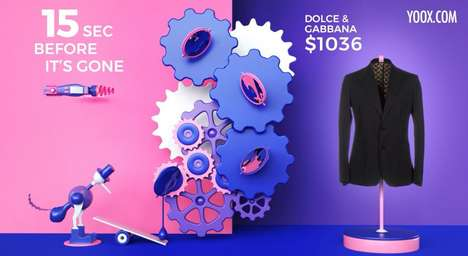 One-Time Sale Ads - YOOX Created Shoppable Ads with Deals That Last Only 15 Seconds