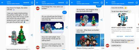 LEGO Gift-Giving Chatbots - LEGO's 'Ralph' Chatbot for Messenger Helps with Christmas Shopping