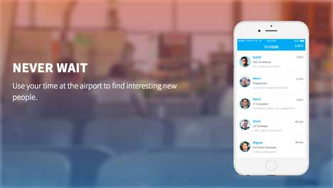 Airport Social Platforms - The WaitList App Promotes Spontaneous Interaction Between Passengers