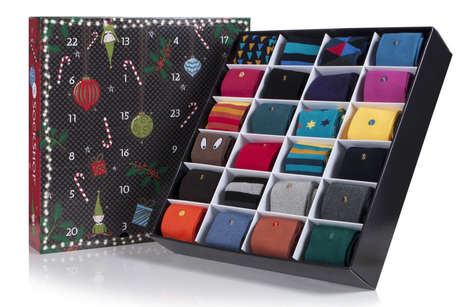 Sock-Filled Advent Calendars
