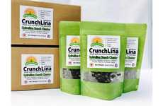 Crunchy Spirulina Snacks - The SunFresh Proteins CrunchLina Spirulina Snack Clusters are Vegan