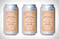 Celebratory Canned Wines - The Scribe Winery Una Lou Rosé is Ornately Packaged and Light