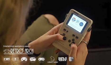 Modular Portable Game Consoles - The 'GameShell' Portable Console Lets You Play and Modify Games