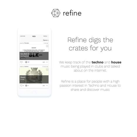 Electronic Music Exploration Apps - 'Refine Music' Finds the Latest Tracks and News for You