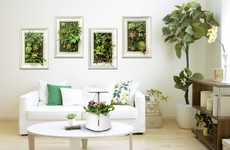 Artistic Wall Gardens - The 'Living Green Wall Planter' Cleans the Air and Boosts Decor
