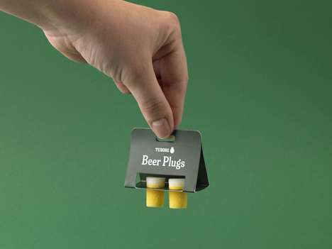 Beer-Shaped Ear Plugs