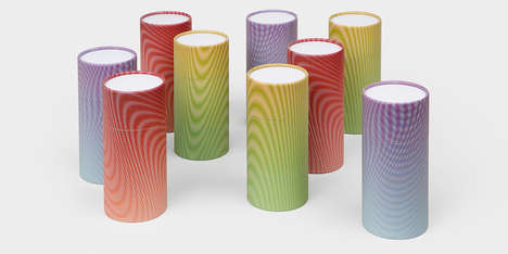 Hypnotic Cylindrical Coffee Canisters