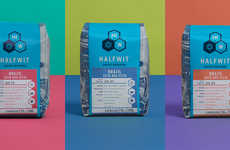 Scientific Coffee Roasters - Halfwit Coffee Roasters' Packaging Uses Icons to Illustrate Tastes