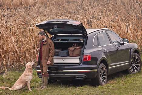 Opulent Hunter Vehicles - The Bentley Bentayga Field Sports Offers Ample Space for Hunting Gear
