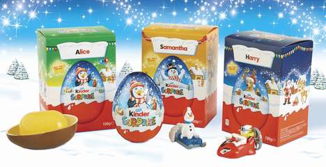 Customized Chocolate Eggs - The Seasonal Packaging for Kinder Embraces Personalized Details