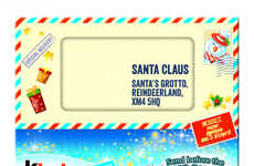 Letter-Writing Chocolate Kits - The 'Kinder Santa Letter' Helps Kids Pen a Letter to Saint Nick