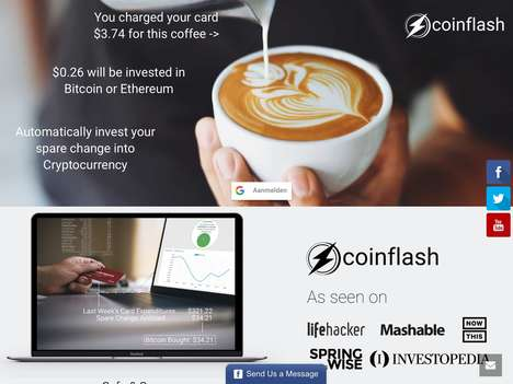 Spare Change Investment Apps - 'Coinflash' Uses Your Change to Purchase Ethereum