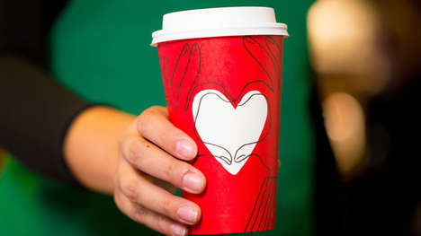 Customizable Holiday Coffee Cups - The New Starbucks Red Holiday Cup Encourages Togetherness