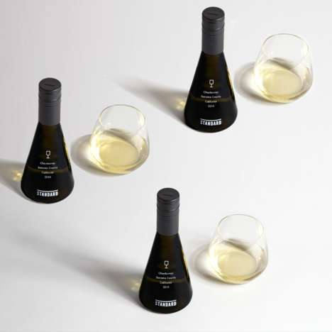 Scientific Wine Packaging - The Bottles by 'Standard' Wines Resemble Science Lab Equipment