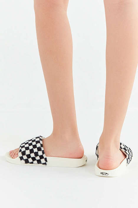Checkered Sherpa Slippers