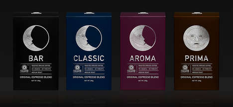 Lunar Coffee Packaging - This Brand Identity for Paradise. Gourmet-club™ Espresso is Mystical
