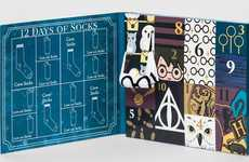 Wizard Sock Advent Calendars - This Harry Potter Advent Calendar Features Socks for a Dozen Days