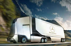 Aerodynamic Shipping Vehicles - The Mercedes Euro-X Transport Truck Has an Efficient Design