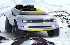 Unexplored Icy Terrain Vehicles