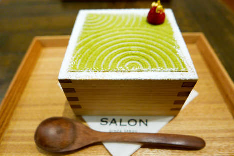 Garden-Inspired Matcha Parfaits - The Sabou Parfait is Decorated to Look Like a Japanese Zen Garden