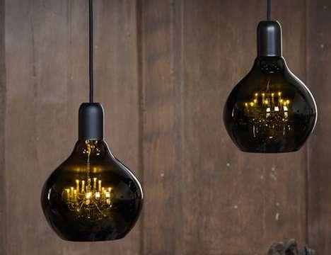 Mini Chandelier-Filled Lights