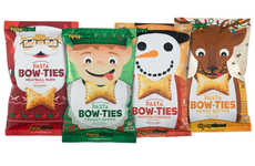 Seasonal Puffed Pasta Snacks - The Vintage Italia Holiday Pasta Bow Ties are Festively Tasty