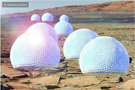 Domed Martian Homes - These Conceptual Designs for Houses on Mars Include Gargantuan Greenhouses