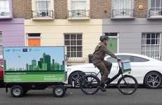 E-Bike Delivery Vehicles - UPS is Trialling Electric Bike Trailers to Help Traffic and Pollution