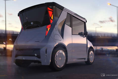 This REDSPACE Electric Vehicle Concept is for a Chinese Audience