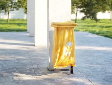 Minimalist Urban Waste Bins