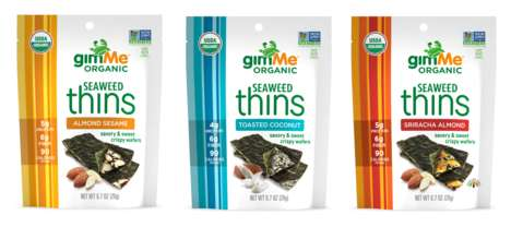 Savory-Sweet Seaweed Snacks - gimMe's Seaweed Thins are Crispy, Flavorful and Protein-Rich Treats