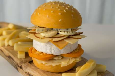 All-Cheese Burgers - Hungry House Created a Limited-Edition Burger Crafted Entirely from Cheese