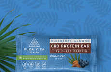 CBD Protein Bars - Pura Vida Makes Cannabis-Infused Superfoods Packed with Plant-Based Protein