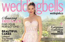 Smartphone-Shot Bridal Magazines - Weddingbells Created a Cover and Editorial Using Just an iPhone