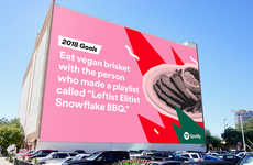 Data-Driven Music Billboards - Spotify's Outdoor Billboard Ads Call Out Specific User Habits