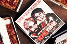 Movie-Promoting Pizza Boxes - These Good Time Pizza Boxes are Uniquely Promoting the NYC-Based Film