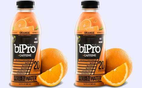Caffeinated Protein Drinks - The BiPro Caffeine Protein Water is Made from Just Six Ingredients