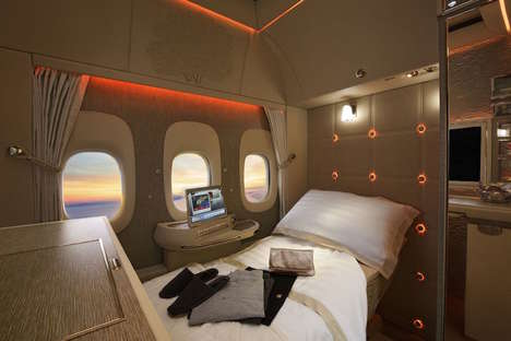 Luxurious In-Flight Cabins - Emirates' New First Class Cabins Feature NASA-Inspired Beds
